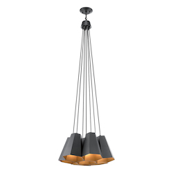 Black Aidan 7 Light Pendant