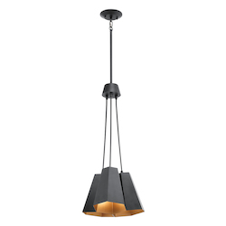 Black Aidan 3 Light Pendant