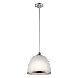 Chrome Rory 1 Light Pendant