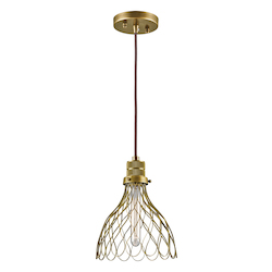 Natural Brass Devin 1 Light Pendant