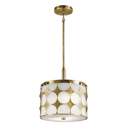 Natural Brass Charles 2 Light Pendant