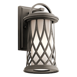 Olde Bronze Pebble Lane 1 Light Outdoor Wall Sconce
