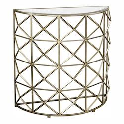 Yulia Gold Console Table