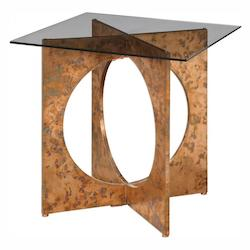 Darry Copper Accent Table