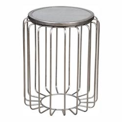 Valerio Antiqued Silver Accent Table