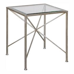 Silvana Antiqued Silver Cube Table