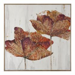 Golden Accents Floral Art