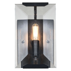 1212 Monaco Collection Wall Sconce W:6In H:10In Ext: 7In Lt:1 Flat Black (Matte)