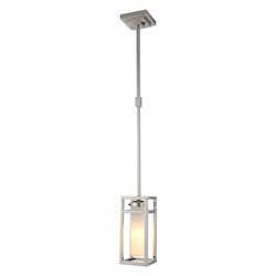 1443 Bianca Collection Pendant Lamp D:6In. H:52In. Lt:1 Polished Nickel Fini