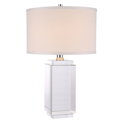 Regina Collection Table Lamp D:13In H:21.5In Lt:1 Chrome Finish