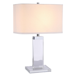 Regina Collection Table Lamp L:14In W:8In H:31In Lt:1 Chrome Finish