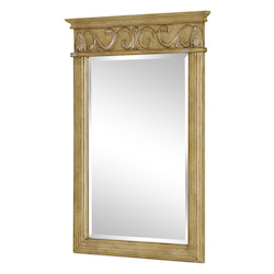 Vanity Mirror 25In. X 36In. Antique Beige
