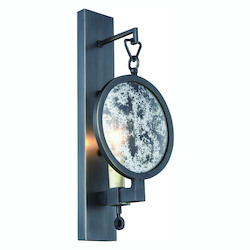 Twilight Collection Wall Sconce W:6In. H:14In. E:4In. Lt:1 Bronze Finish