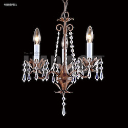 3 Arm Mini Crystal Chandelier