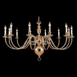 Polished Brass Essex House 48 Light Chandelier - 60in. Wide