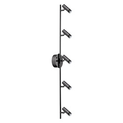 Black / Chrome 39 5/8in. Wide 5 Light LED Track Light from the Lianello Collection