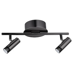 Black 14 1/8in. Wide 2 Light LED Track Light from the Lianello Collection