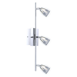 Chrome 22 7/8in. Wide 3 Light LED Track Light from the Pecero Collection