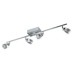 Chrome 31 5/8in. Wide 4 Light LED Track Light from the Pecero Collection