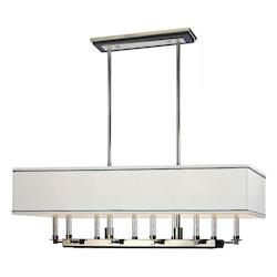 Polished Nickel Collins 10 Light Island / Billiard Fixture