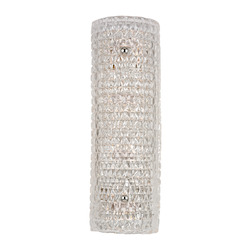 Polished Nickel Westville 4 Light Wall Sconce with Crystal Glass