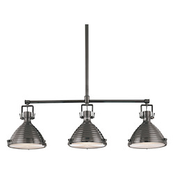 Antique Nickel 3 Light Island Fixture from the Naugatuck Collection