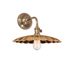 Aged Brass Heirloom 1 Light Wall Sconce