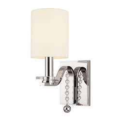 Polished Nickel Bolton 1 Light Wall Sconce
