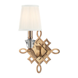 Aged Brass Fowler 1 Light Wall Sconce