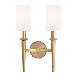 Aged Brass Tioga 2 Light Wall Sconce