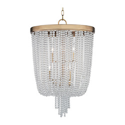 Aged Brass Royalton 8 Light Pendant With Clear Crystal Shade