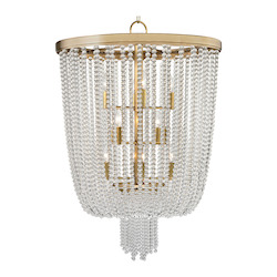 Aged Brass Royalton 12 Light Pendant with Clear Crystal Shade