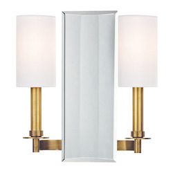 Aged Brass Adams 2 Light Wall Sconce