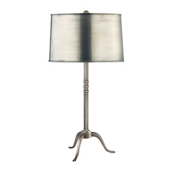 Aged Silver Burton 1 Light Table Lamp
