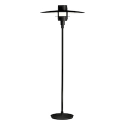 One Light Black Floor Lamp