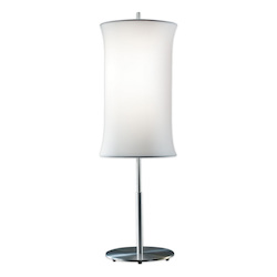 Two Light Aluminum Table Lamp