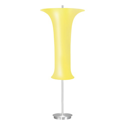 Three Light Aluminum Floor Lamp