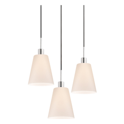 Tall Cone 3-Light Pendant