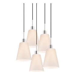 Tall Cone 5-Light Pendant