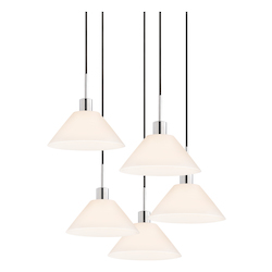 Cone 5-Light Pendant