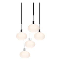 Demi Oval 5-Light Pendant