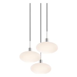 Oval 3-Light Pendant