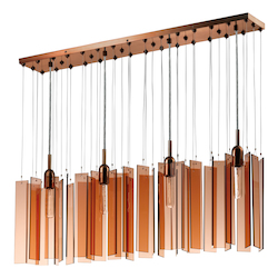 Four Light Bronze Multi Light Pendant