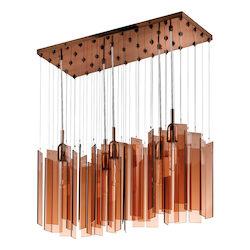 Five Light Bronze Multi Light Pendant