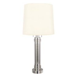 Two Light Nickel Table Lamp
