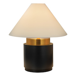 Four Light Brass Table Lamp