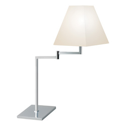 One Light Chrome Table Lamp