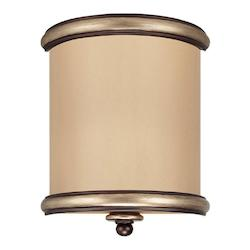 Two Light Champagne Bronze Wall Light