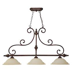 Burnished Bronze Chandler 3 Light 1 Tier Linear Chandelier