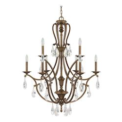 Suede The Claybourne Collection 9 Light 2 Tier Candle Style Chandelier
